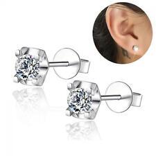 Jewelry Fashion Gift Zircon Ear Studs Silver Plated Crystal Earrings
