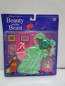 RARE Disney Classics Beauty and the Beast Library Fashion for Belle NRFB #3153