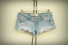 Hollister Size 0,1,2,3 Cut Wide Exposed Pockets Hot Mini Denim Short Shorts