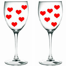 160 x red hearts / hearts WINE GLASS/ VINYL STICKERS / DECAL xmas festive