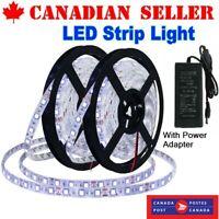 Flexible LED Light Strip 600 6000K Unit LEDs Waterproof Light & Power Adapter