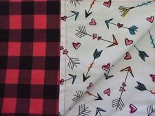 Pink/black Buffalo plaid baby infant toddler flannel swaddle 41x32 crib blanket