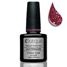 QUTIQUE Gel Nail Polish Colour Glitter -GLITTERGASM -pink/fuchsia -Pro Quality