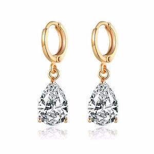 Dangle Earrings Zirconia 750 Gold 18 Carat Gold Plated O1416-3