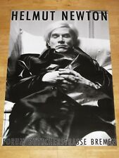 "HELMUT NEWTON POSTER PLAKAT "" ANDY WARHOL PARIS 1974 "" BREMEN EXHIBITION in MINT"