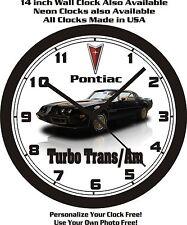 1981 PONTIAC FIREBIRD TURBO TRANS/AM WALL CLOCK-FREE USA SHIP