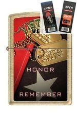 Zippo 207G vietnam vets honor Lighter with *FLINT & WICK GIFT SET*