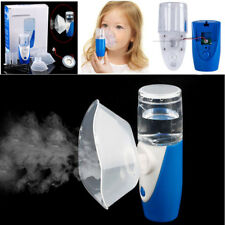 Rechargeable Ultrasonic Nebulizer Humidifier Kids Adult Mist Diffuser W/Disc Pad