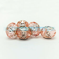 5Pcs Crafts Murano Lampwork Glass Beads Loose Spacer Charms Bracelets Jewelry