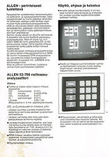 allen test products 53-700 4 gas exhaust analyzer service manual pdf book cd