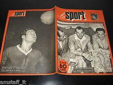 LO SPORT 1951/15=COPPI=BARTALI=MAGNI=MONZA CON FOTO SQUADRA=CARNERA WRESTLING=
