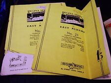 VINTAGE SHEET MUSIC BOOKLETS REGINA EASY ALBUMS 21 X 2 GREAT FOR DUET