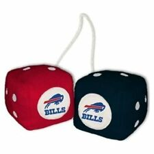 BUFFALO BILLS PLUSH FUZZY DICE CAR MIRROR DANGLER NFL FOOTBALL