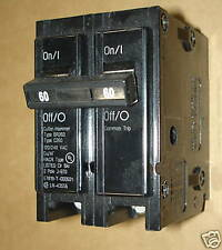 Cutler-Hammer EATON 60A Circuit Breaker Type BRHH260  2 Pole 240V   60AMP