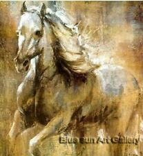 Modern Handmade Horses oil painting Signed on canvas abstract art series LB107