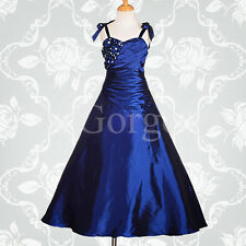 c32feca2f39 Royal Blue Flower Girl Dress Ball Gown Wedding Bridesmaid Party Size 7y-8y  Fg167