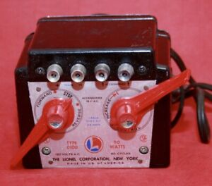 Lionel Type 0100 DC Transformer 90 Watts DC - Not for AC Powered  Trains