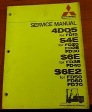 Service Manual Mitsubishi Lift Trucks 4DQ5 S4E S6E S6E2, 1981