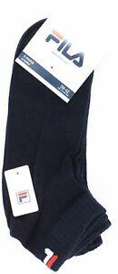 Fila 3 Paar Socken Strümpfe Quarter Sneakers Unisex Trainer - Navy