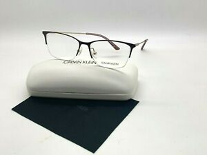Calvin Klein CK 18121 201 SATIN BROWN Eyeglasses Frames 53-15-140MM /CASE