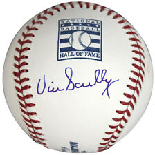 Dodgers Vin Scully Signed HOF Logo Oml Baseball Autographed BAS Witnessed