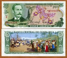 Costa Rica, 5 Colones, 1986, P-236d, UNC > colorful