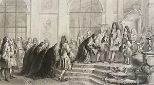 Réparation au Roi Louis XIV par doge de Gènes Francesco Imperiali 1685 c 1840