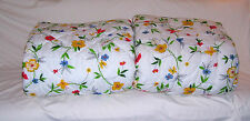 "NEW Barclay ""Breezy"" FULL Floral - White Comforter 80"" X 90"" WARMLON Poly/Cotton"