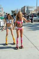 GLOSSY PHOTO PICTURE 8x10 Sarah Hyland And Ashley Tisdale  Skating In A Bikini