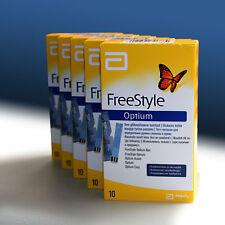 ABBOTT Freestyle Optium Blood Glucose Test Strips 1 box 10 strips