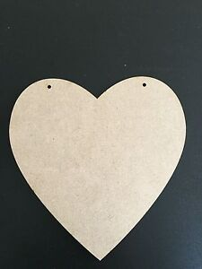150mm MDF HEART SHAPE BLANK PLAQUE WITH 2 HANGING HOLES **ALSO IN OAK VENEER**
