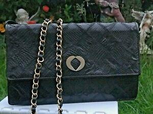 Lizard crocodile belly Real skin Vintage handbag crossover/shoulder evening Bag