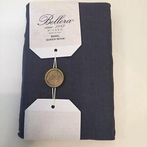 Pillow Sham standard queen Bellora Milano Italy Basil 100% Linen in CHARCOAL