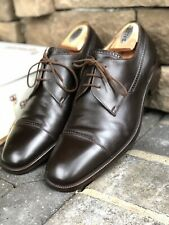 GRAVATI Solid Brown Leather  Mens Captoe Oxford Dress Shoes ITALY - 11 M