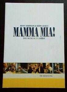 Mamma Mia! cast programme Germany 2005 Carolin Fortenbacher (in German)