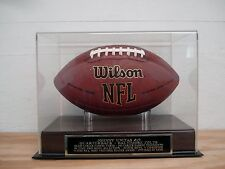 Football Display Case With A Johnny Unitas Colts Engraved Nameplate
