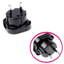 New UK to EU Euro Plug AC Power Charger Adapter Converter Socket Black