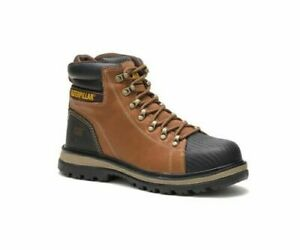 Mens Caterpillar Brown S3 Steel Toe Midsole Safety Work Boots Size UK 12 46