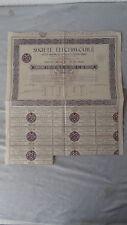Société ELECTRO-CABLE-Cinquieme D 'OBLIGATION DE 100 FRANCS - 6% au Convention - 1936