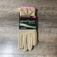 Isotoner SmarTouch 2.0 Touch Screen Compatible Gloves Women's Size XL Camel Tan