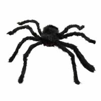 Giant Black Spider for Halloween Decorations Realistic Fake Creepy Spider 125cm