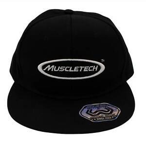 Muscletech Cap Basecap Mütze Fitness Sport Strong Training Gym Unisex schwarz