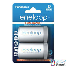 2 ENELOOP BATTERY ADAPTER AA R6 TO D R20 SIZE CONVERTER SPACER CASE NEW