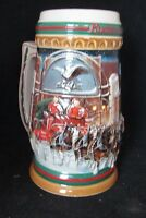 Budweiser Holiday Stein 1997 Home For The Holidays Clydesdales