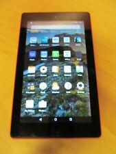 """Amazon Kindle Fire 7"""" 7th Gen x2 Cameras & Micro SD Slot 16GB Orange F192"""