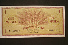 FINLAND 1 MARKKA   BANKNOTE -  1963 -  CRISP UNCIRCULATED
