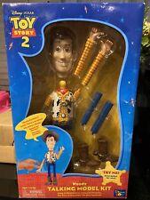 "Toy Story 2 Woody Talking Model Kit 10"" Thinking 1999 Vintage Box Package Disney"