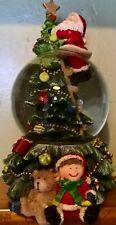 More details for christmas windup musical santa snowglobe