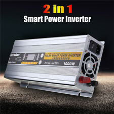 2In1 1000W DC 12V To AC 220V 30A Solar Car Auto Power Inverter Battery Charger