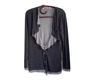 The Ark Long Sleeve Snap Front Jacket Top Size M
